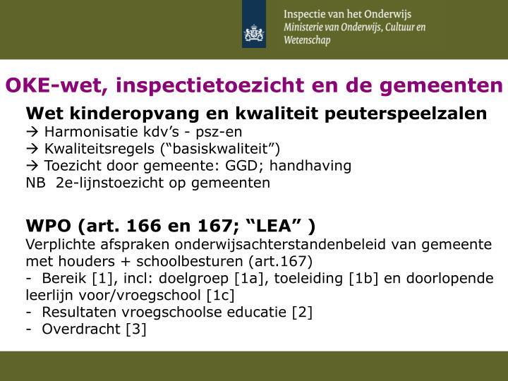 OKE-wet, inspectietoezicht en de gemeenten