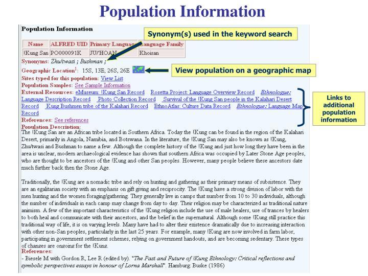 Population Information