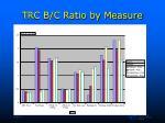 trc b c ratio by measure