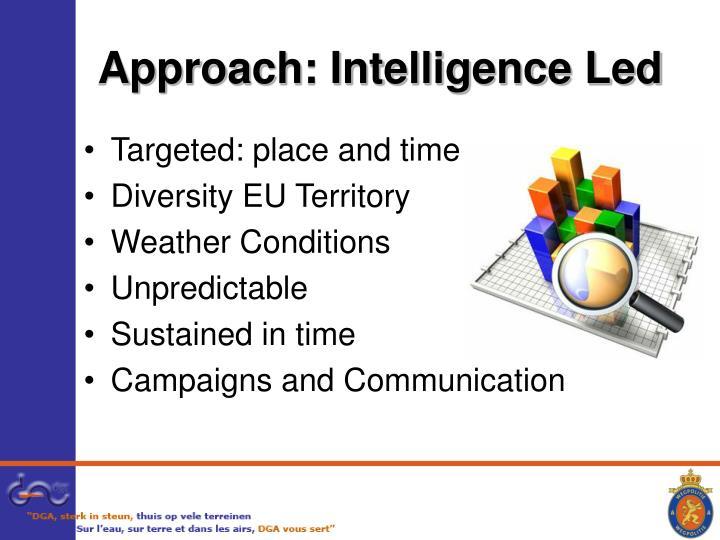 Approach: Intelligence Led