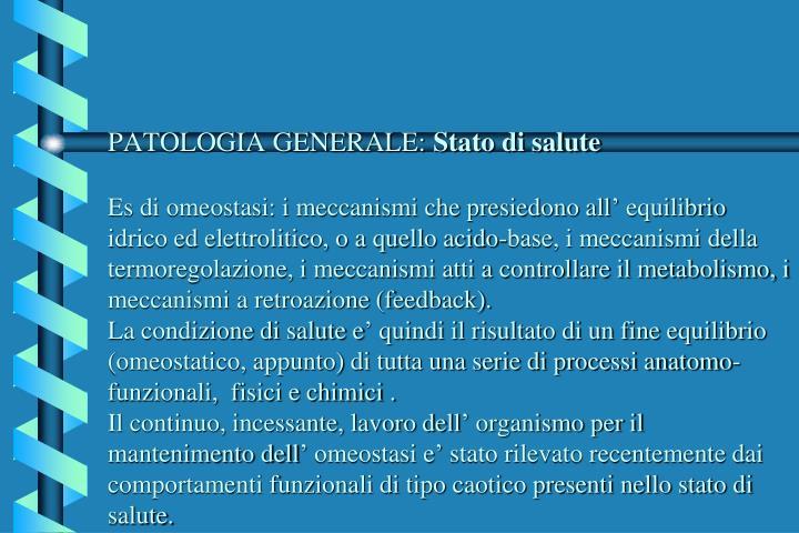 PATOLOGIA GENERALE:
