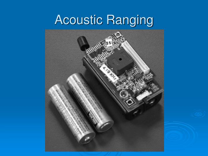 Acoustic Ranging