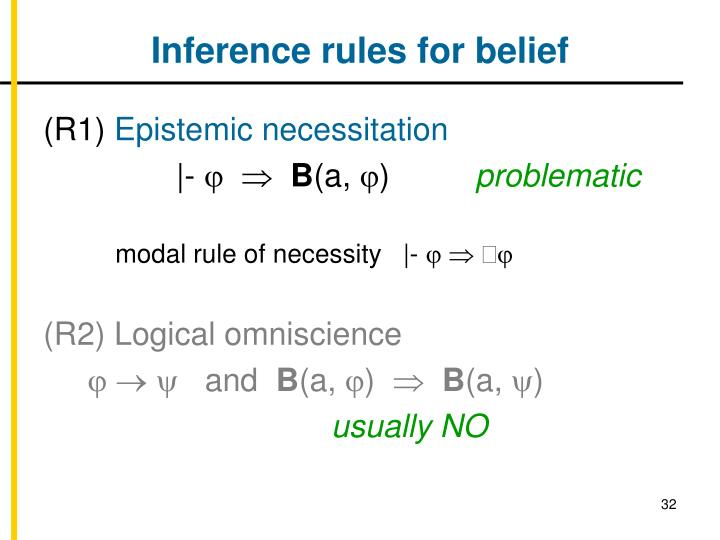 Inference rules for belief