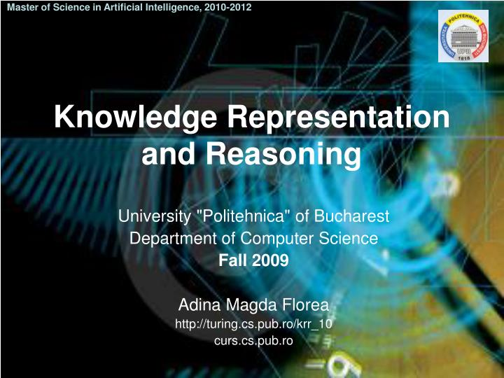 Master of Science in Artificial Intelligence, 2010-2012