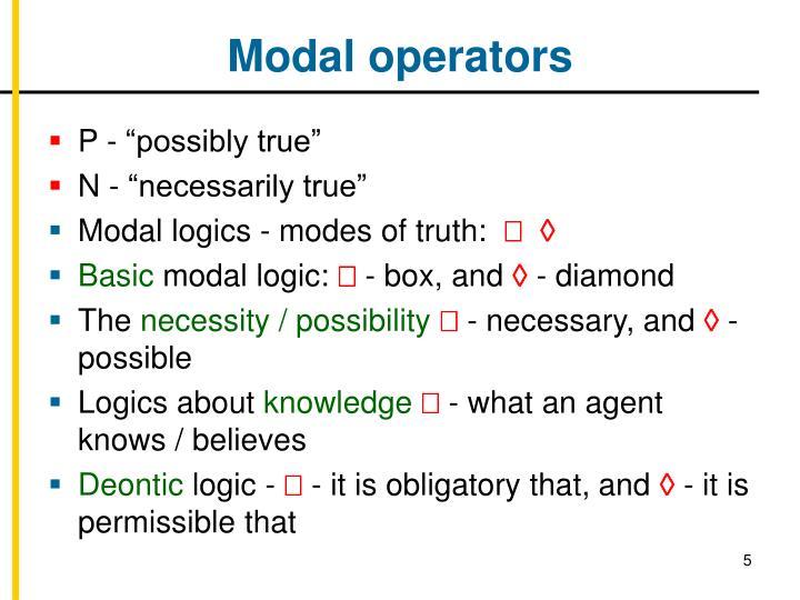 Modal operators