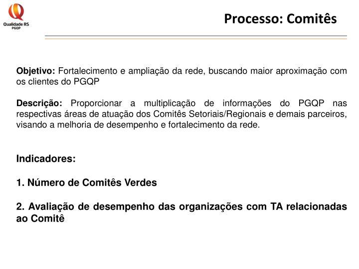 Processo: Comitês