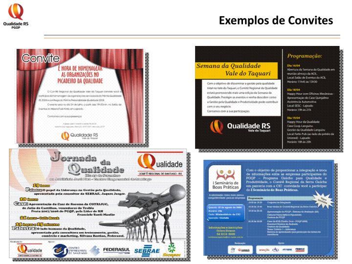 Exemplos de Convites