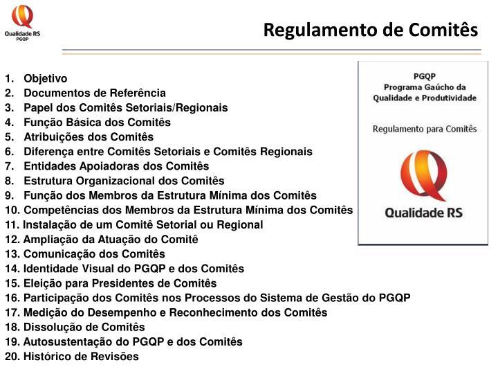 Regulamento de Comitês