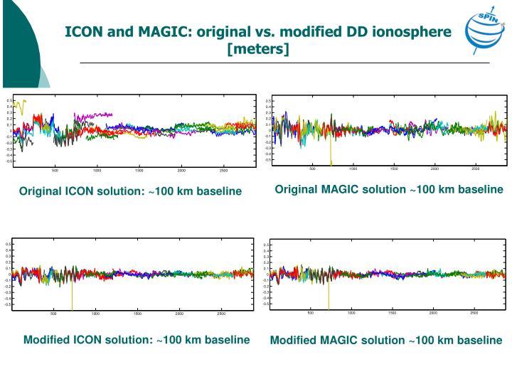 ICON and MAGIC: original vs. modified DD ionosphere [meters]