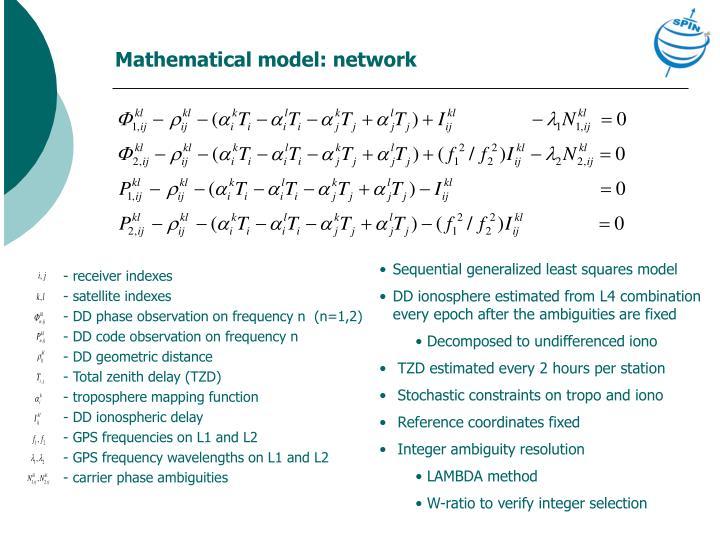Mathematical model: network