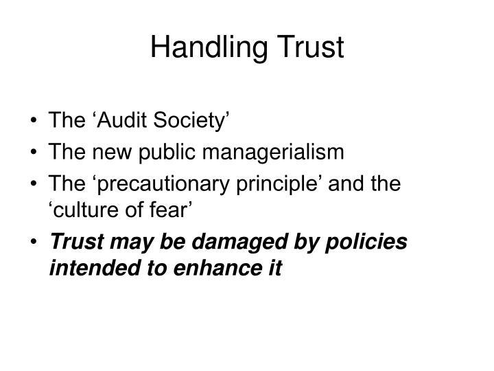 Handling Trust