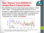 new science from shadoz 1 unique role of tropical sondes
