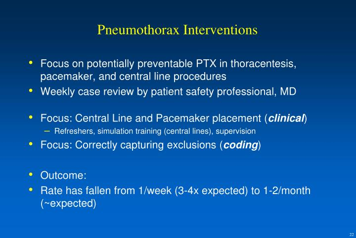 Pneumothorax Interventions