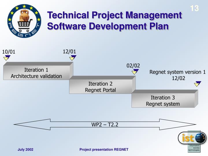 Technical Project Management Software Development Plan