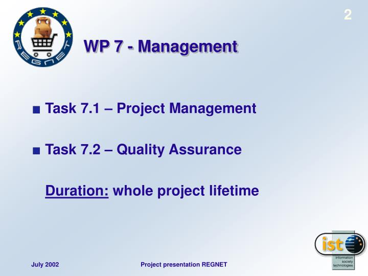 WP 7 - Management