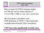 tdr for data processing why tdr