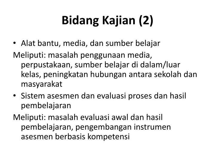 Bidang Kajian (2)