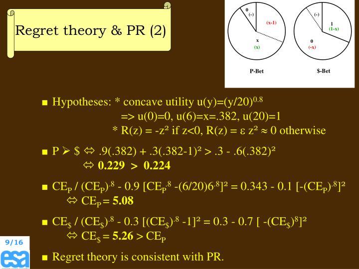 Regret theory & PR (2)