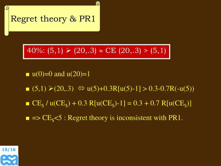 Regret theory & PR1