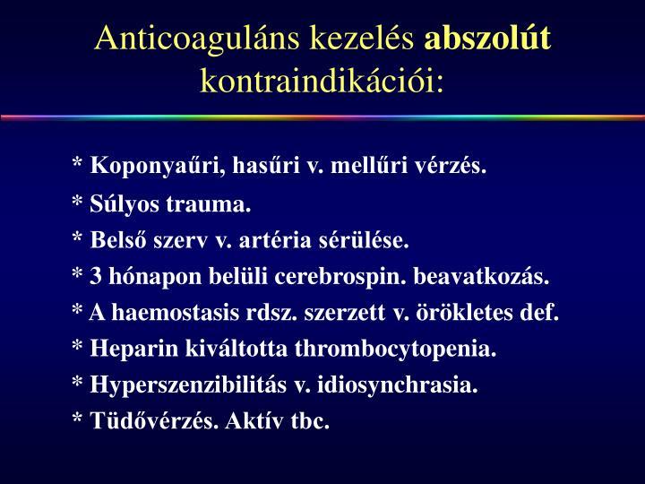 Anticoaguláns kezelés