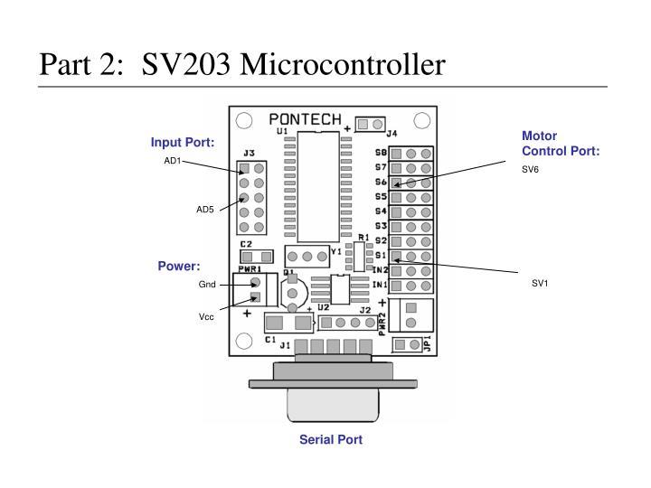 Part 2:  SV203 Microcontroller