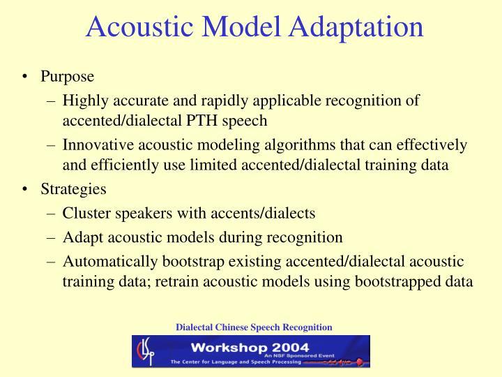 Acoustic Model Adaptation