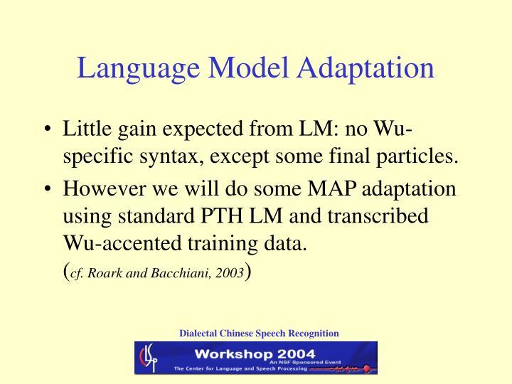 Language Model Adaptation