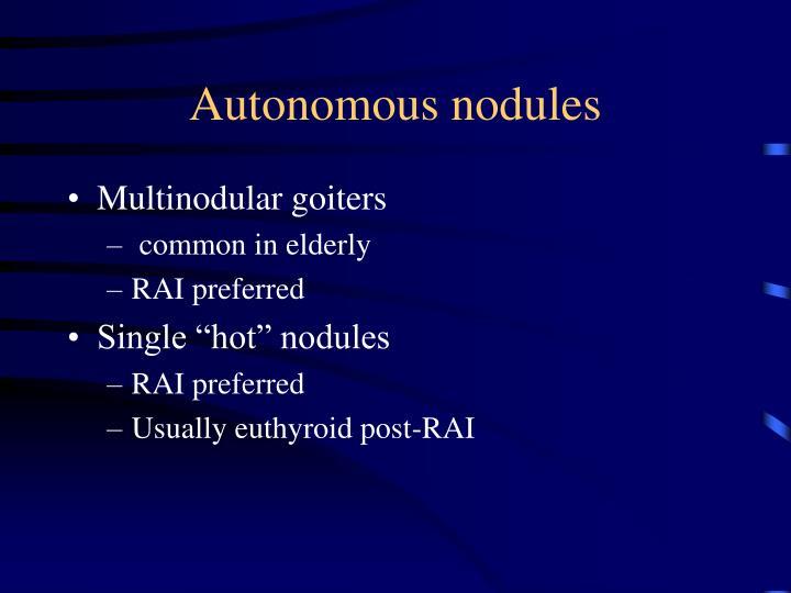 Autonomous nodules