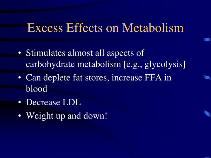 Excess Effects on Metabolism