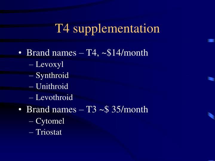 T4 supplementation