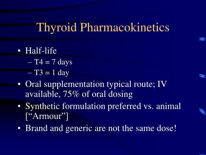 Thyroid Pharmacokinetics
