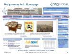 design example 1 homepage