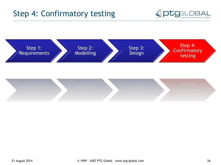 Step 4: Confirmatory testing