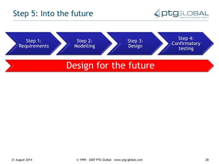 Step 5: Into the future