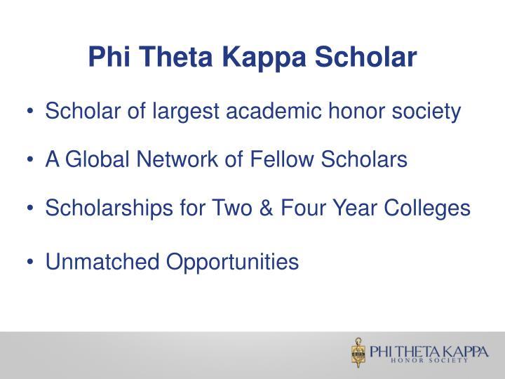 Phi Theta Kappa Scholar