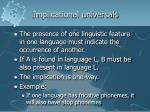 implicational universals