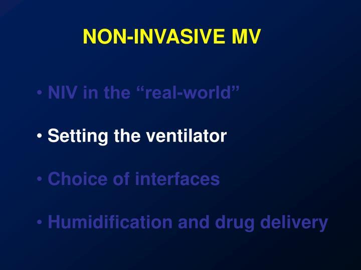 NON-INVASIVE MV