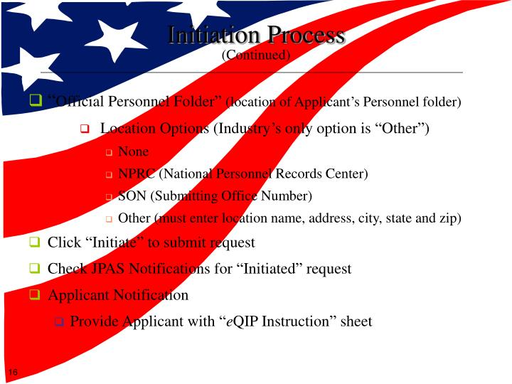 Initiation Process