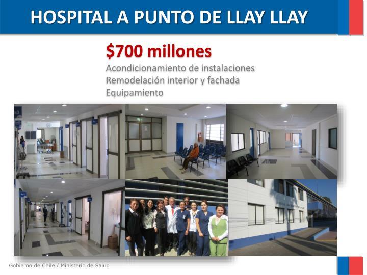 HOSPITAL A PUNTO DE LLAY