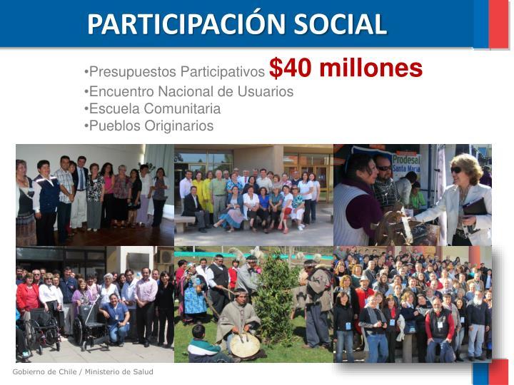 PARTICIPACIÓN SOCIAL