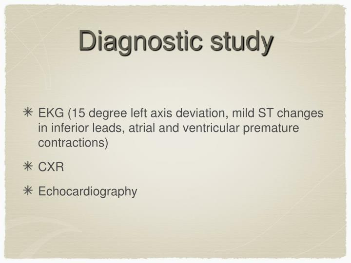 Diagnostic study