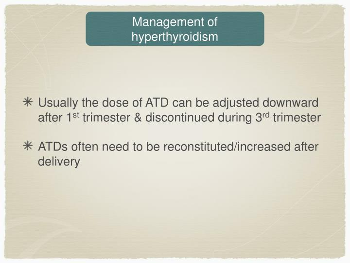 Management of hyperthyroidism