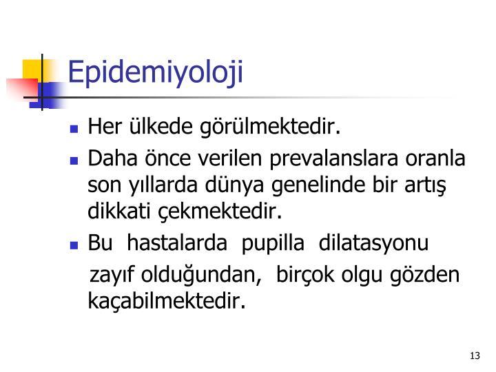 Epidemiyoloji