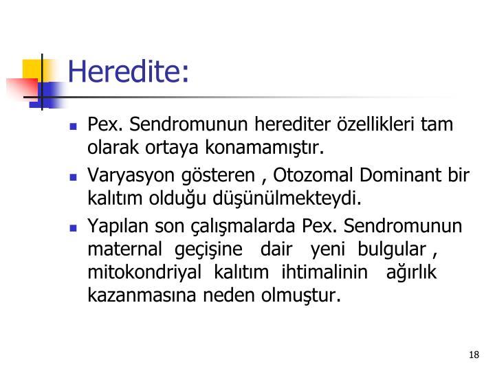 Heredite: