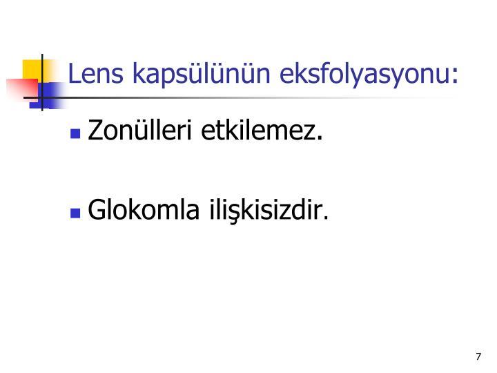 Lens kapsülünün eksfolyasyonu: