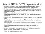 role of phc in dots implementation