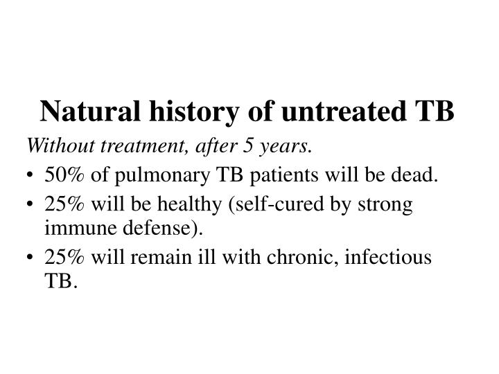 Natural history of untreated TB