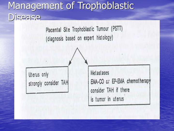 Management of Trophoblastic Disease