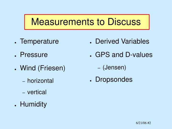Derived Variables