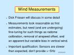 wind measurements